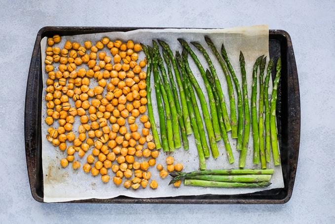 chickpeas and asparagus