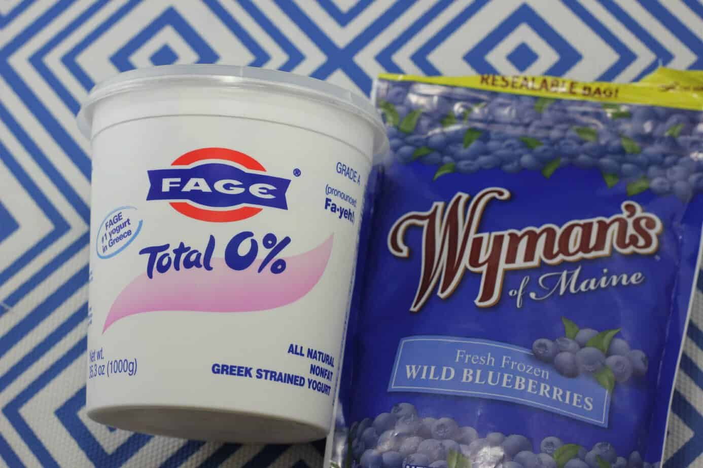 fage greek yogurt and wild blueberries