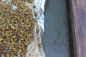 Easy Cinnamon Sugar Roasted Pumpkin Seeds