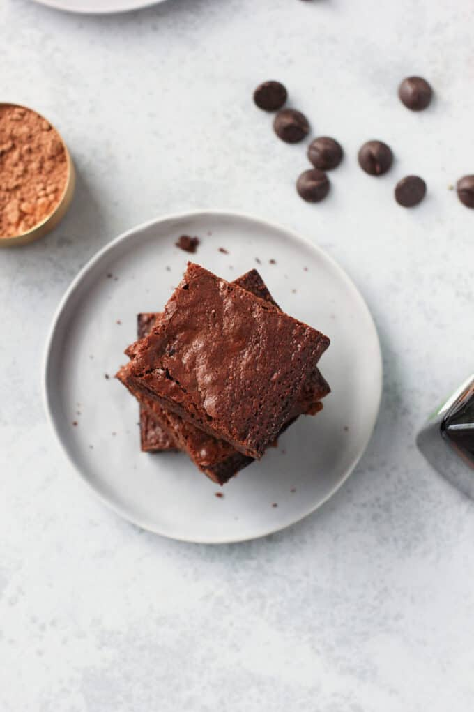 Double Chocolate Almond Flour Brownies