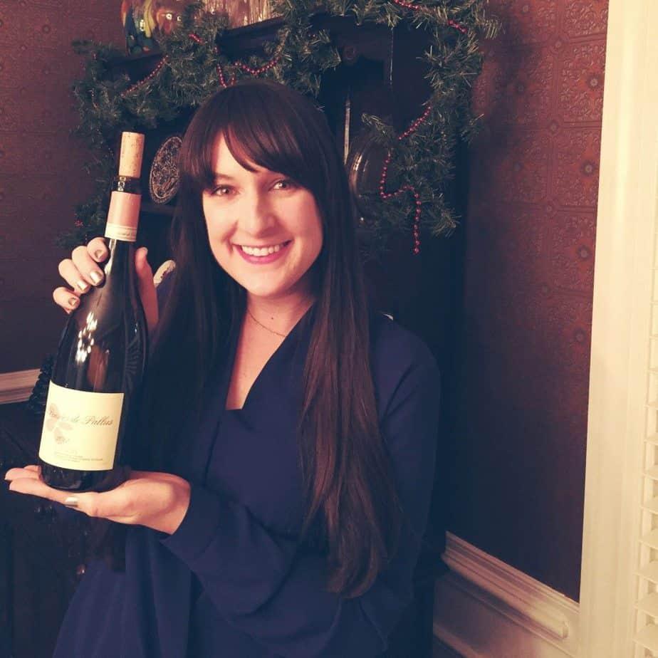 me holding wine