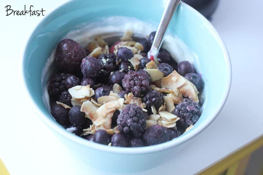 breakfast yogurt and grain free granola