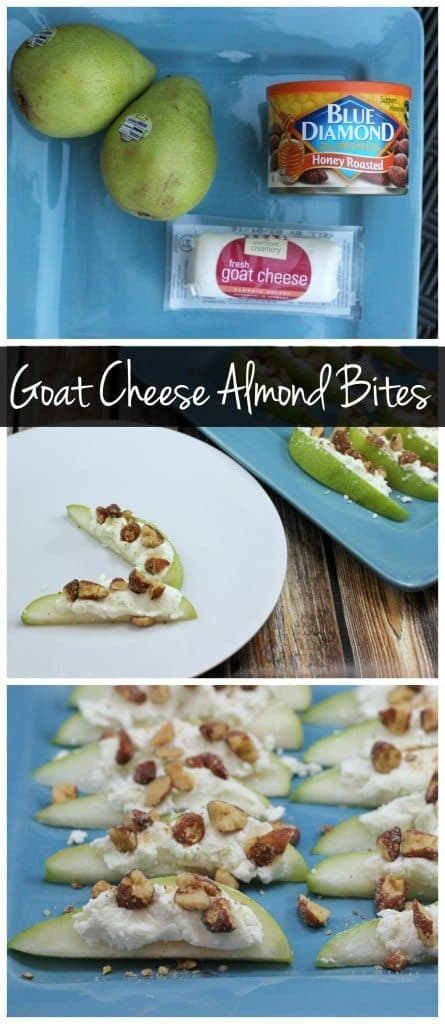 These goat cheese & almond bites are the perfect healthy party snack! They're gluten free and super easy to make! Serve these at your next party!