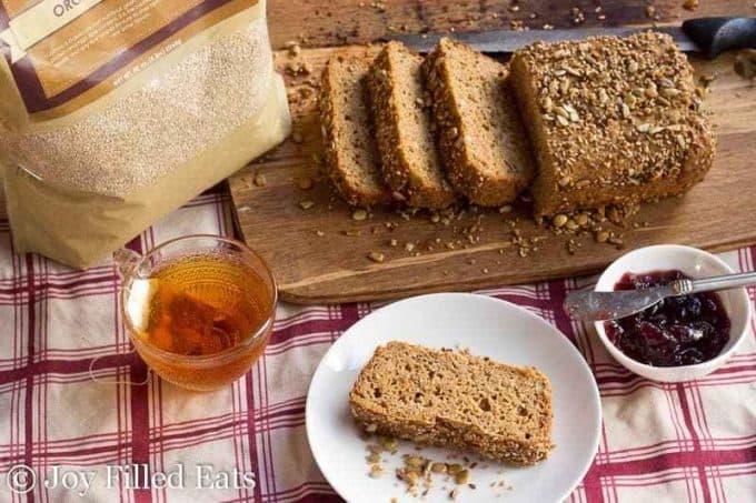 quinoa flour bread