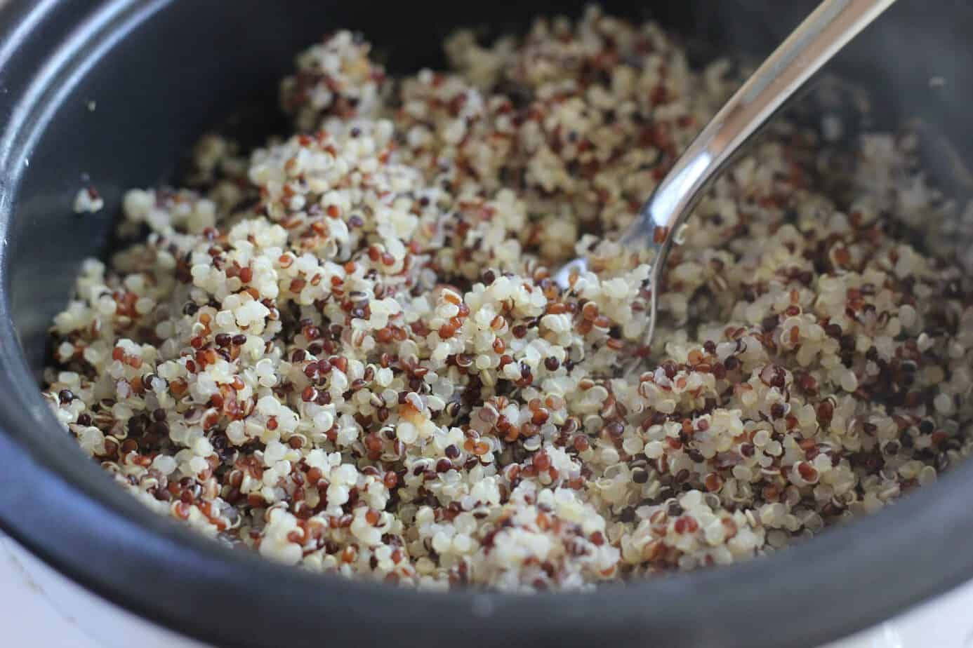 How to make quinoa in a rice cooker i heart vegetables how to make fluffy quinoa ccuart Images