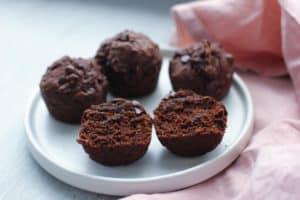Vegan Chocolate Avocado Muffin Recipe