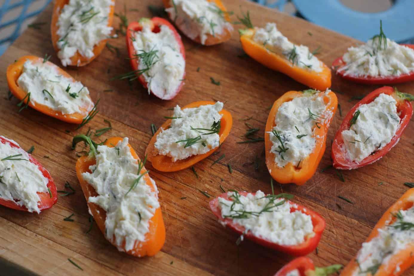 Creamy Feta Stuffed Peppers - I Heart Vegetables
