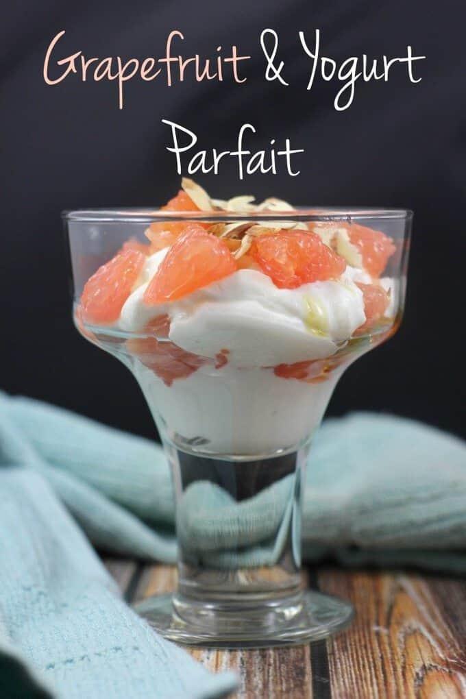 grapefruit and yogurt parfait