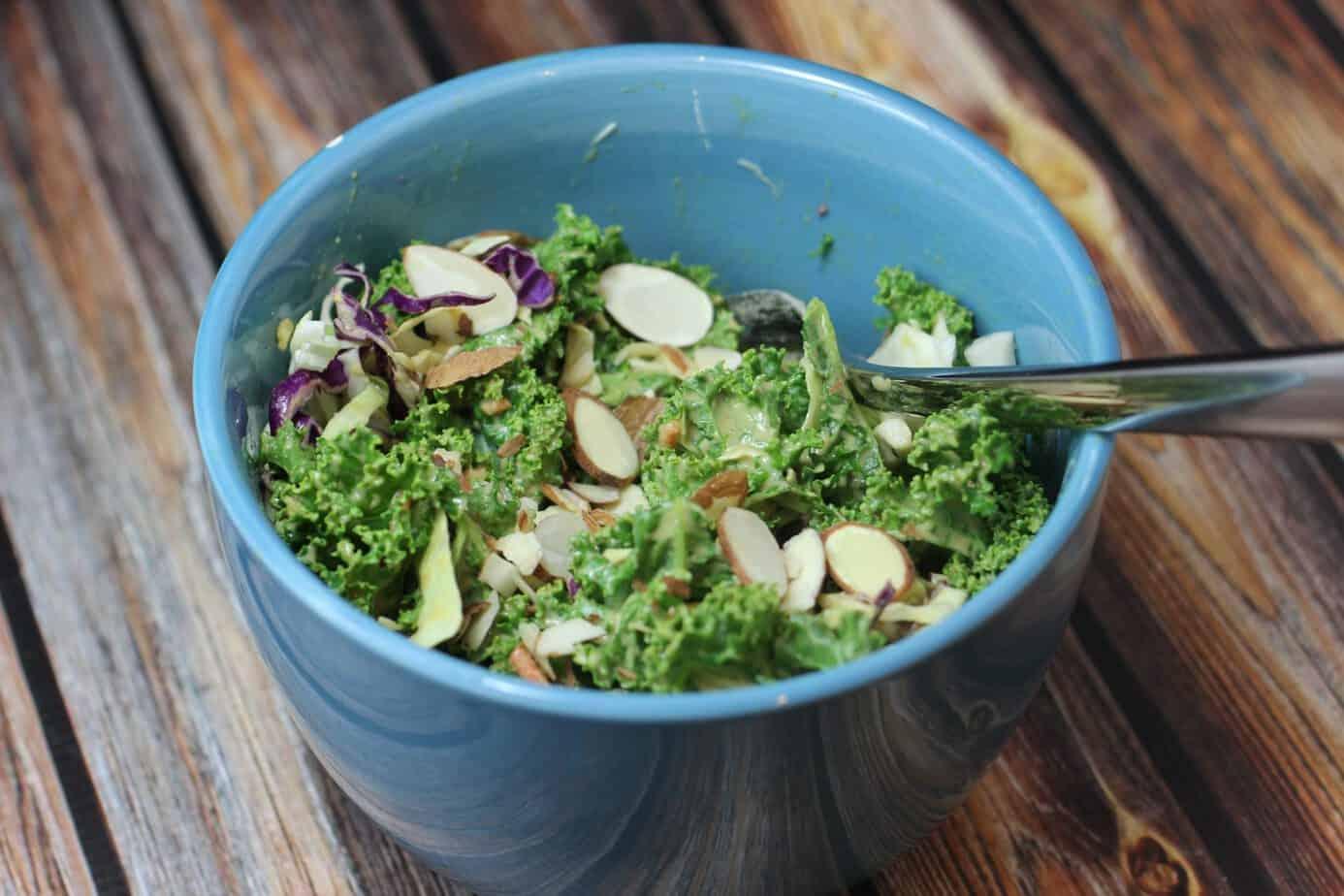 kale salad dinner