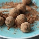 vegan and gluten free dark chocolate truffles