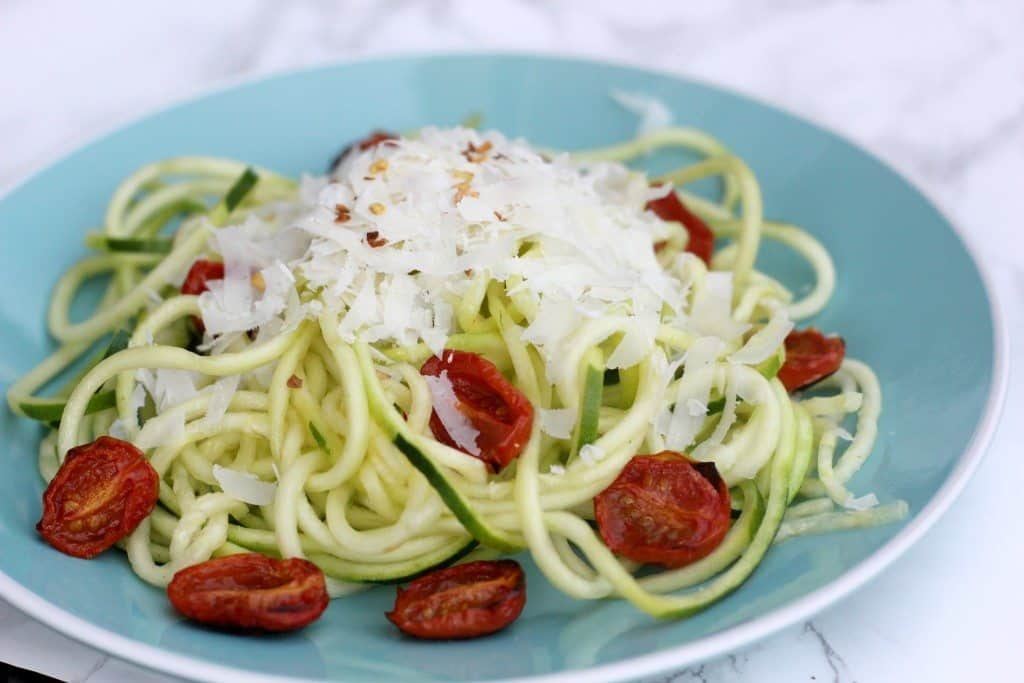 Cheesy Zucchini Noodles (+Tips to Avoid Watery Noodles!)