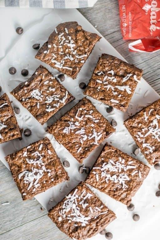 Gluten Free Chocolate Coconut Brownies