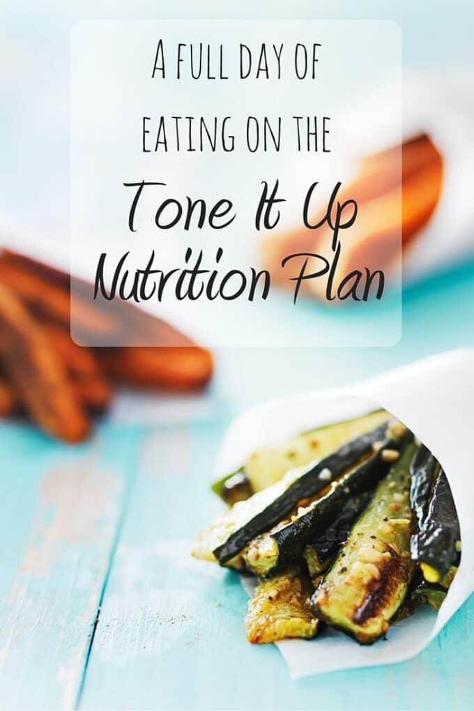 Curious what's on the Tone It Up Nutrition Plan? Here's a full day of healthy eating and recipes on the TIU Plan!