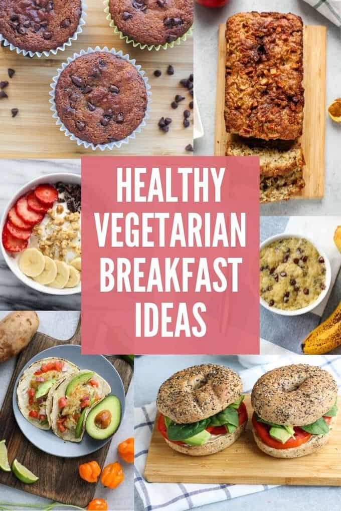 Looking for easy, healthy, breakfast ideas? These vegetarian breakfast recipes will make your mornings easier and keep you energized until lunch! #breakfast