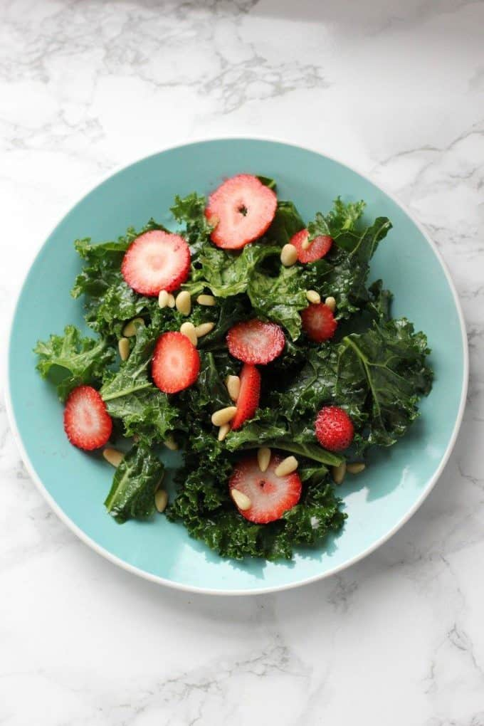 kale salad with berries
