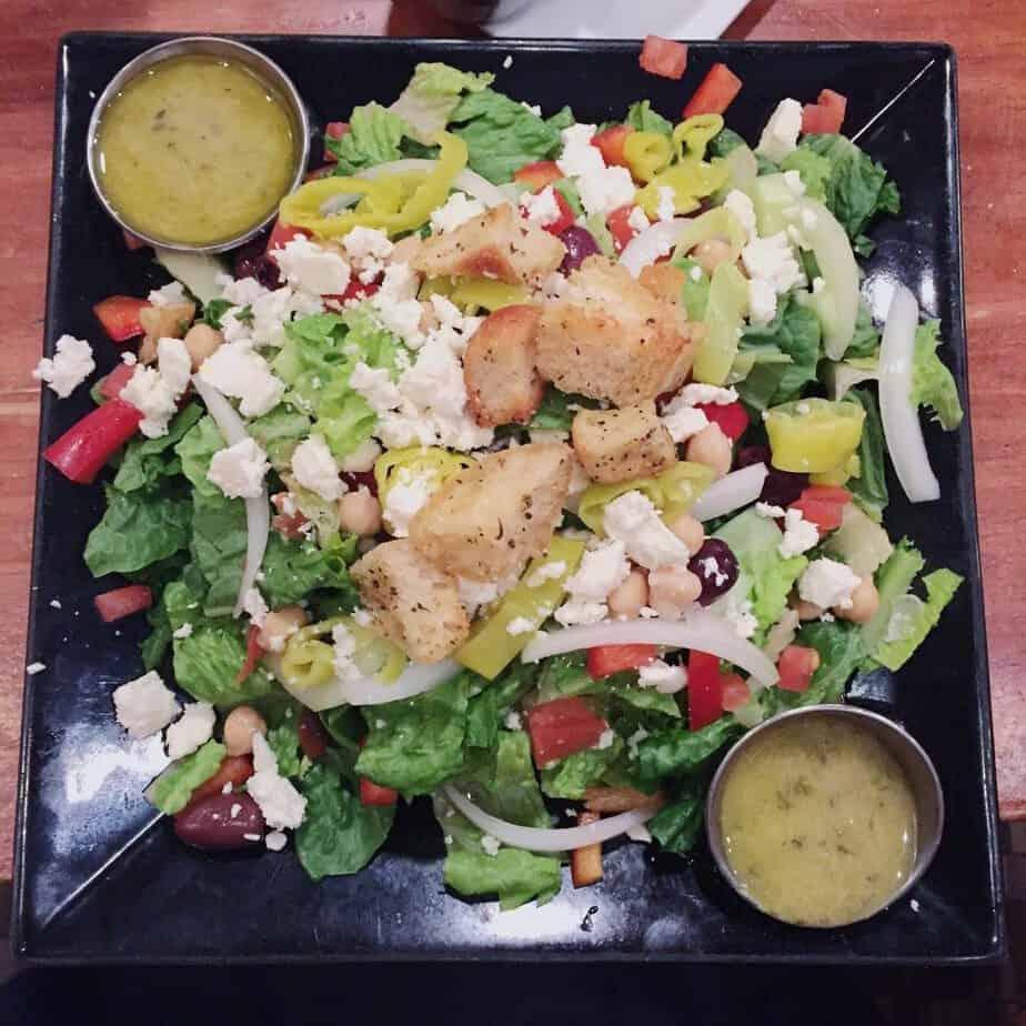 burger bach salad