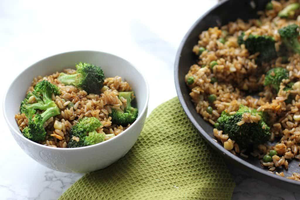broccoli stir fry lunch