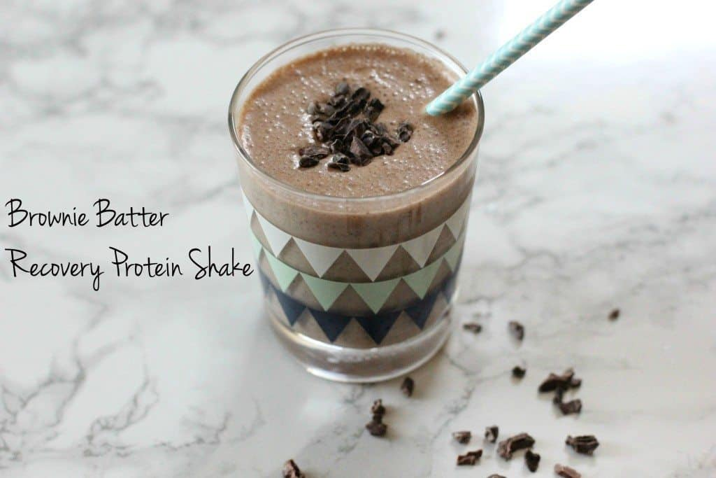 brownie batter recovery shake