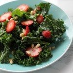 White Balsamic & Strawberry Kale Salad
