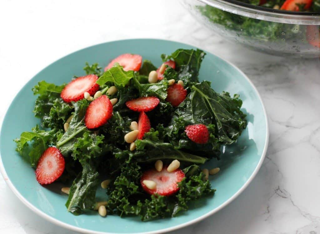 kale salad with white balsamic vinegar