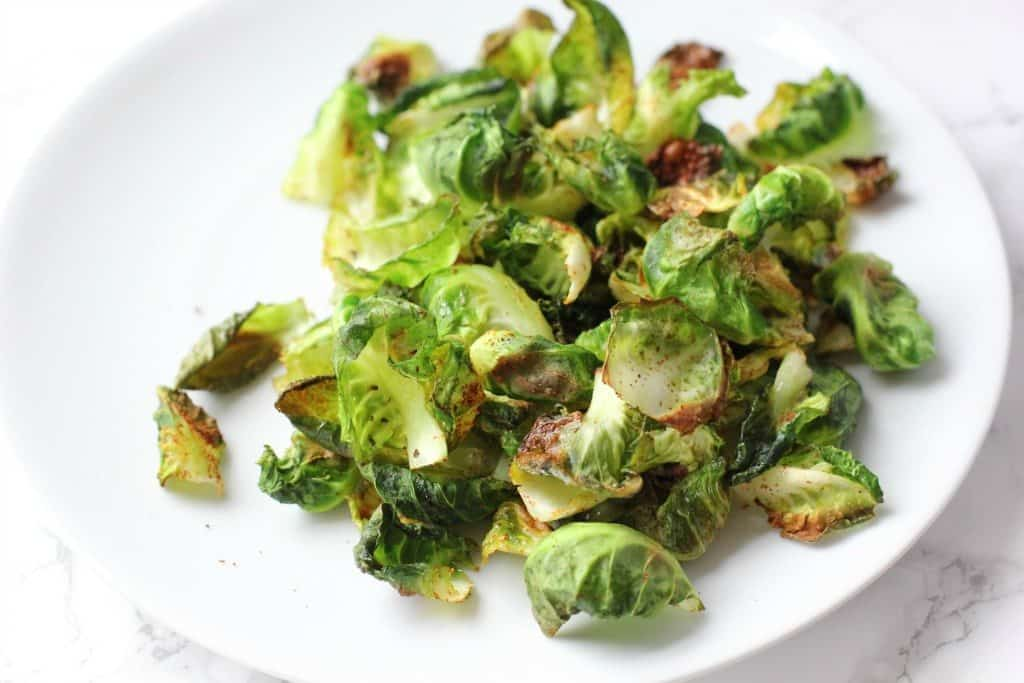spicy brussles sprout chips