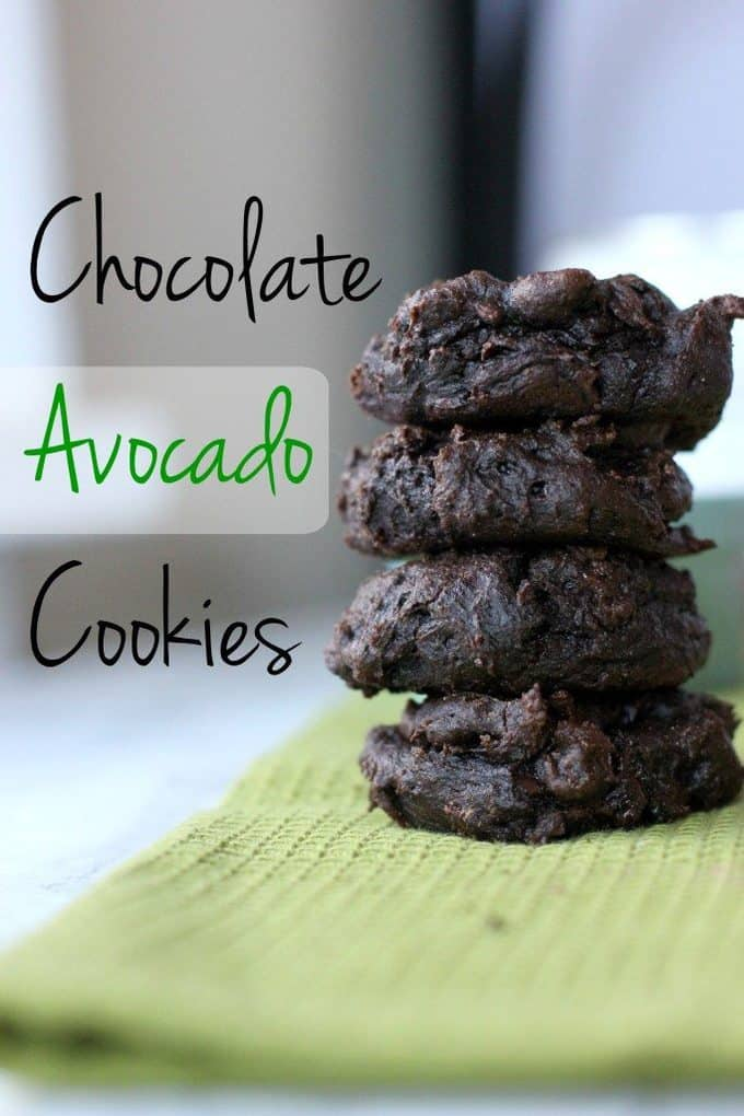 chocolate avocado cookies