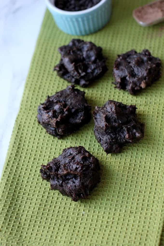 chocolate avocado drop cookies