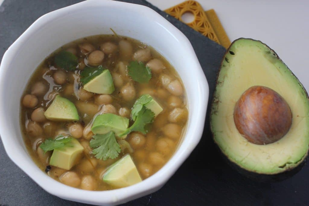 white bean and chickpea chili