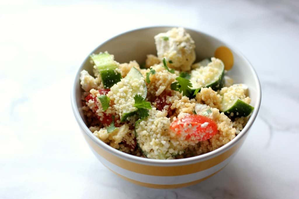 couscous feta and cucumbers