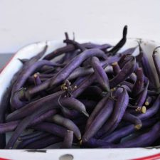easy purple green beans