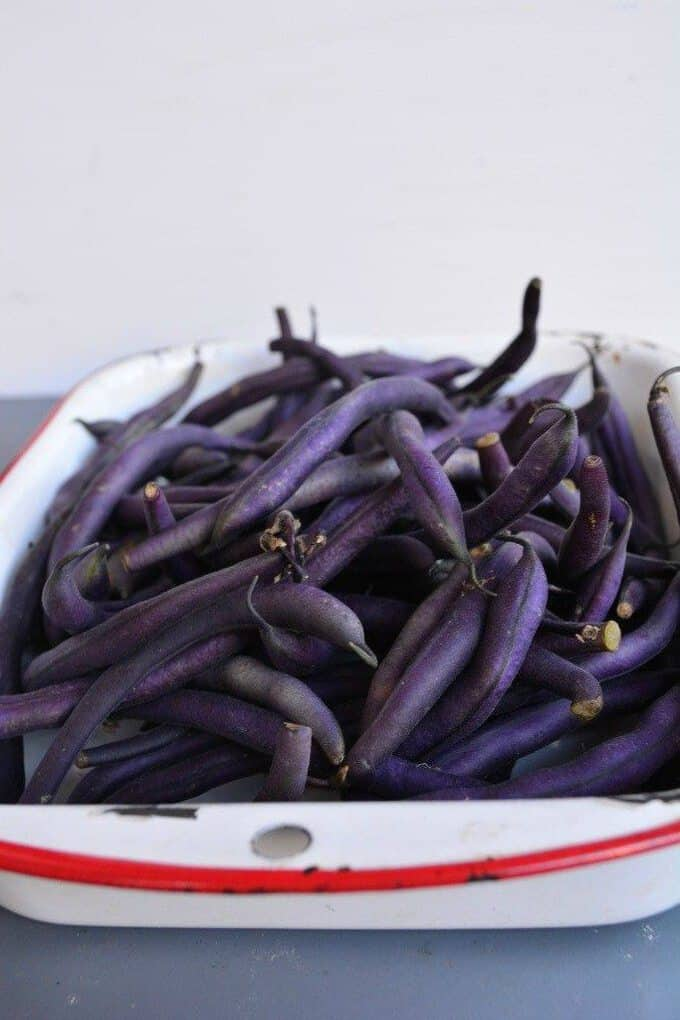 quick and easy purple green beans