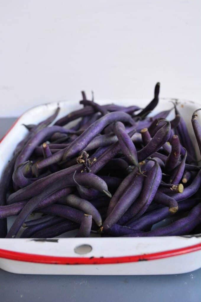 Quick And Easy Purple Green Beans Guest Post I Heart