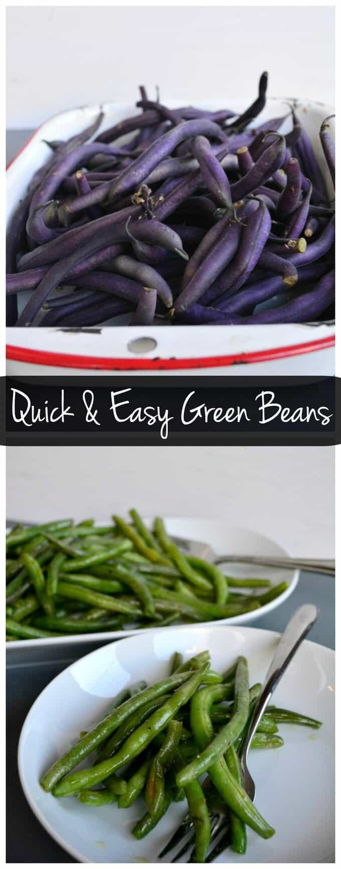 These quick and easy green beans can be on the table in 15 minutes! It's a perfect healthy side dish!