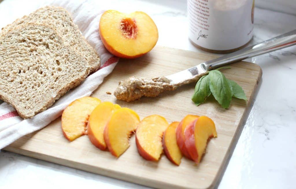 ingredients for peach toast