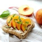 Almond Butter Peach Toast