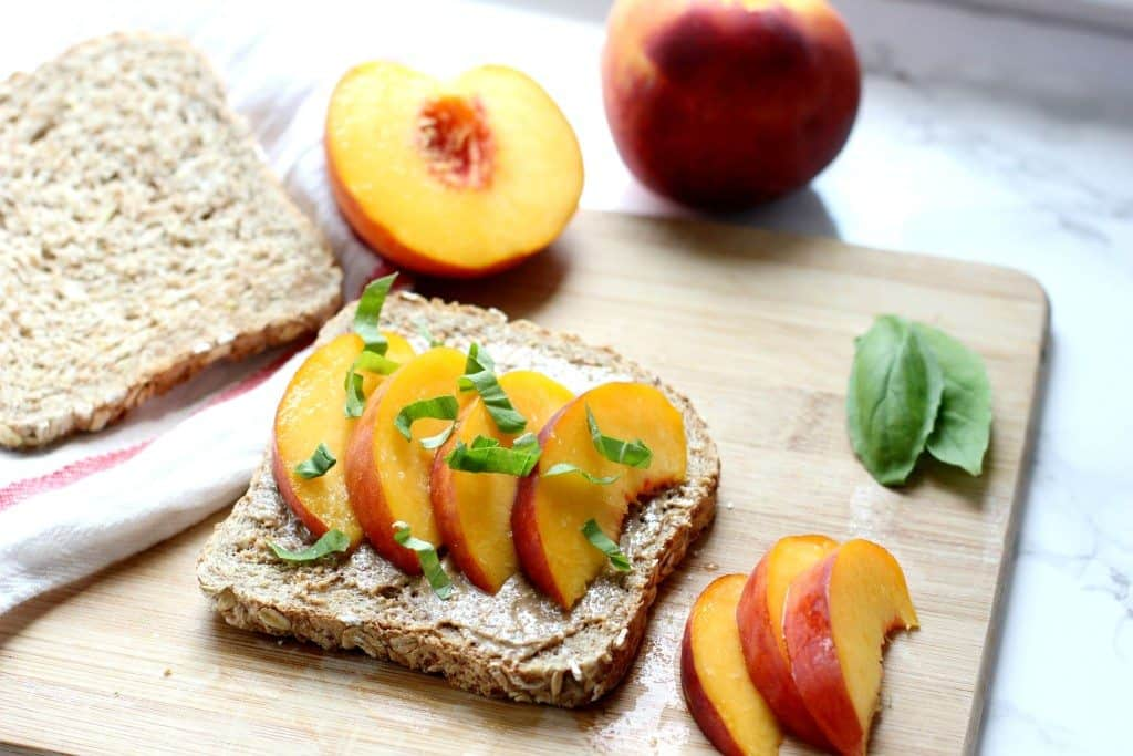 peach toast breakfast