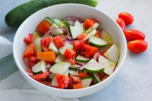 Easy Tomato and Cucumber Salad