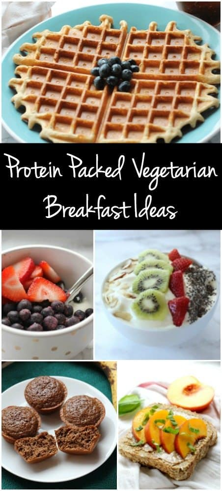 Looking for healthy breakfast ideas? These vegetarian recipes each contain 20g of protein to keep you going all day!