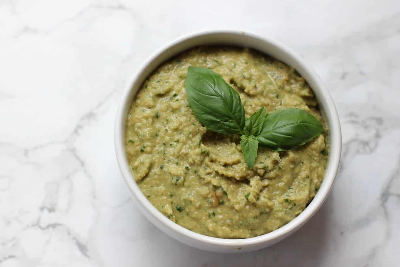 Zoe S Kitchen Pesto Hummus Recipe
