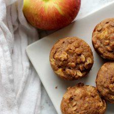 skinny apple cinnamon muffins
