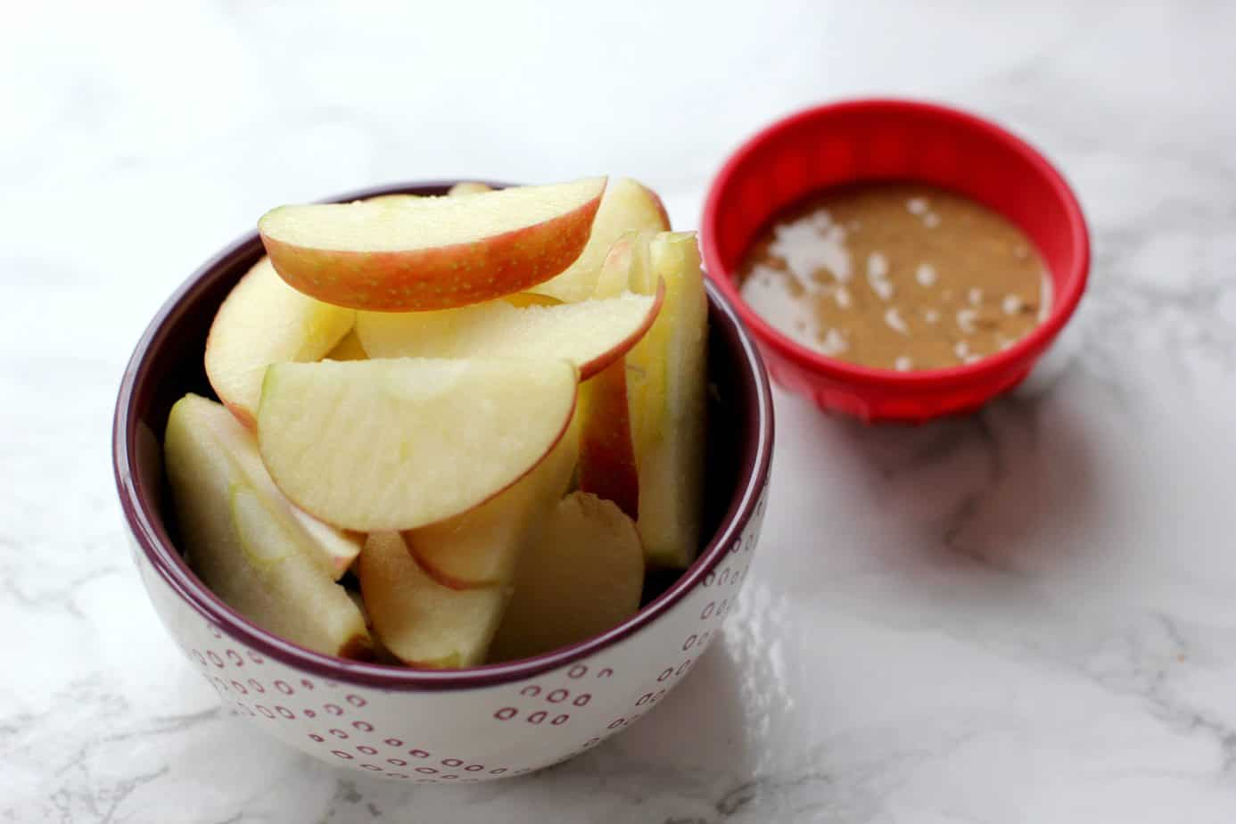 apples with almond butter