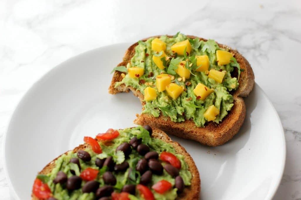 mango toast bite