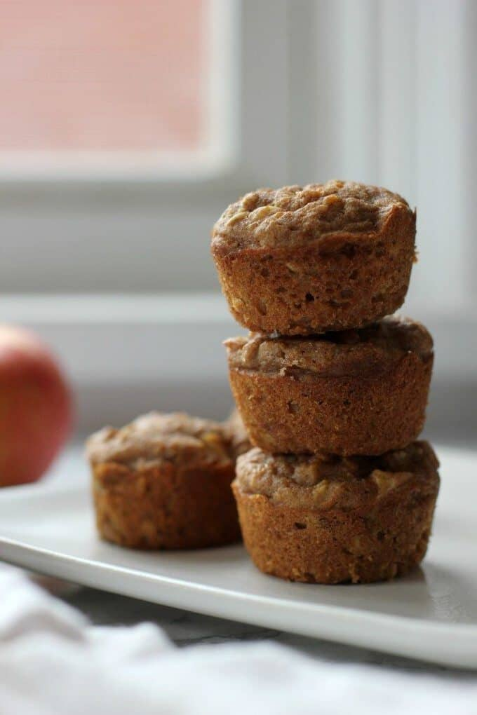 apple cinnamon muffins on a plate