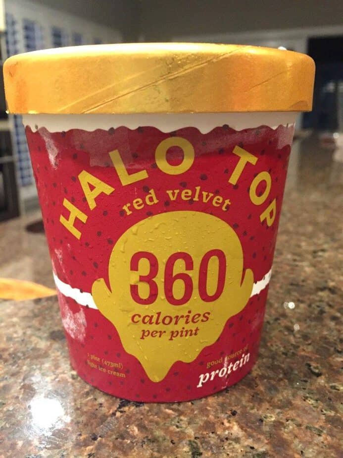 red velvet halo top