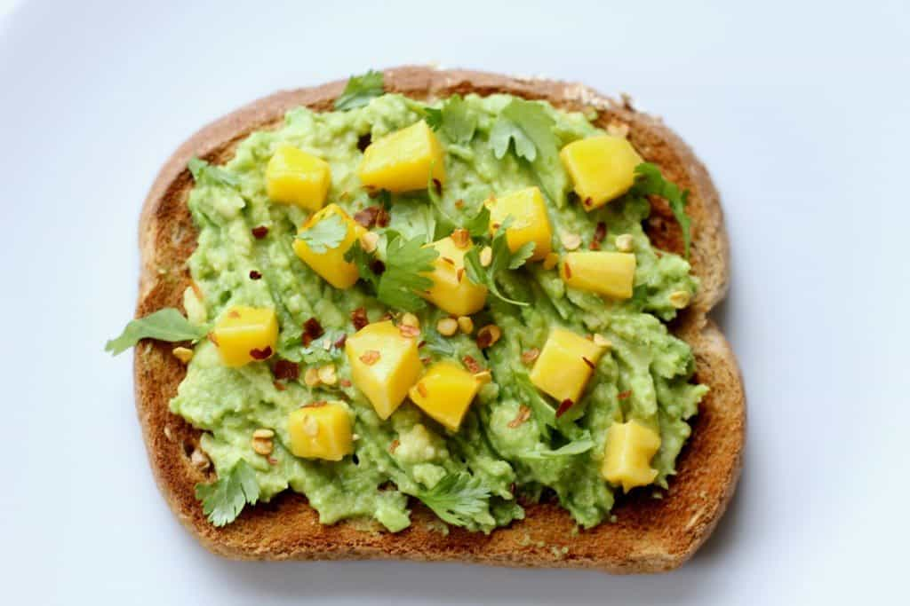 simple mango toast