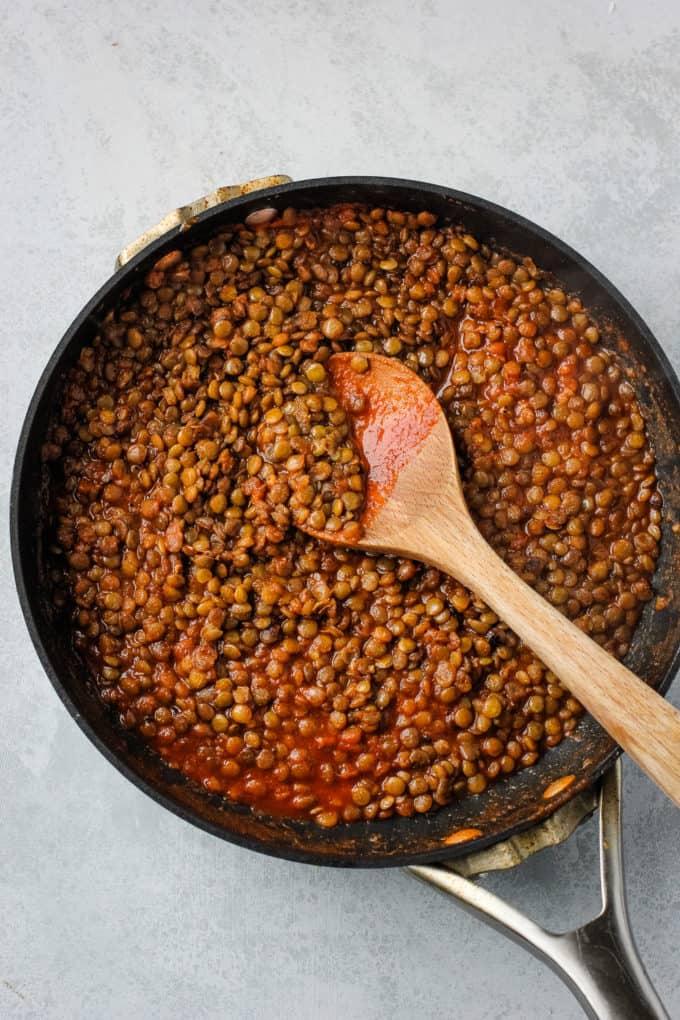 spiced lentils