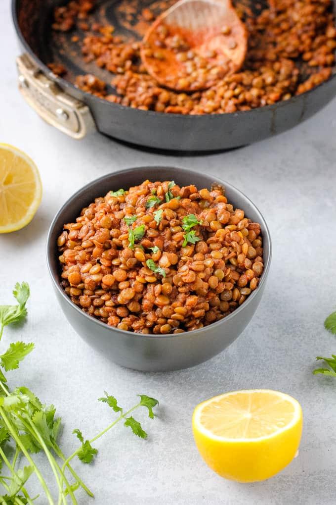 simple spiced lentils