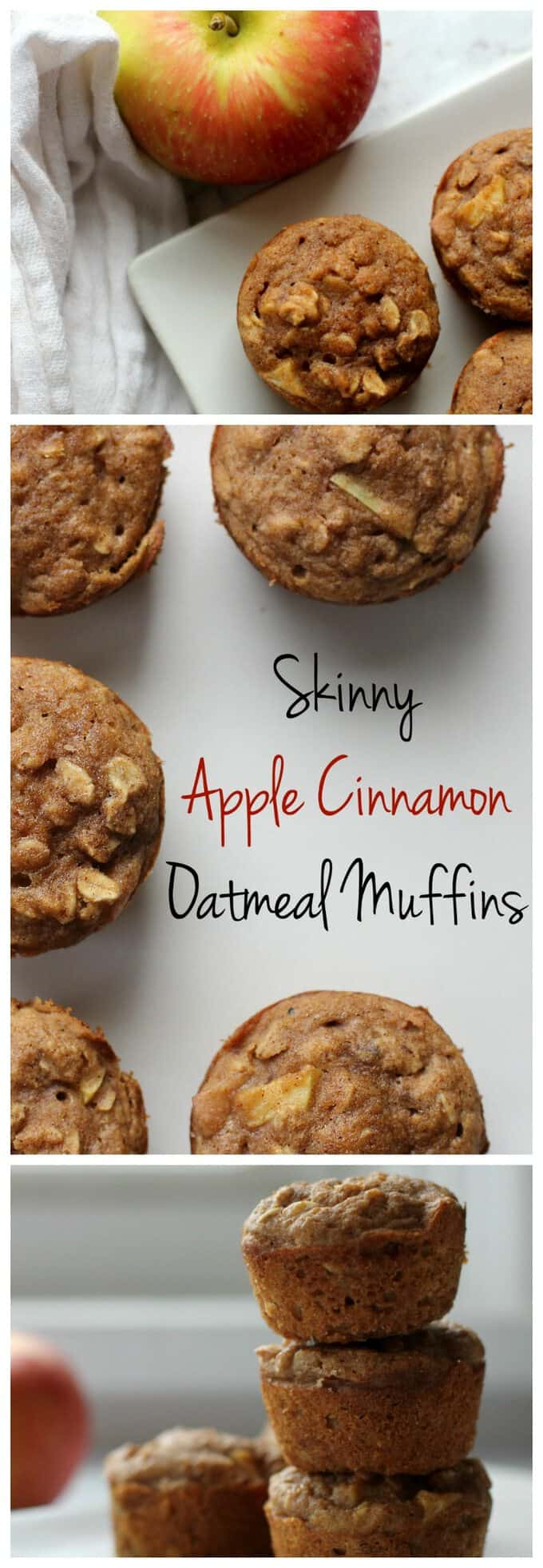 These skinny apple cinnamon muffins are an easy healthy breakfast or snack!