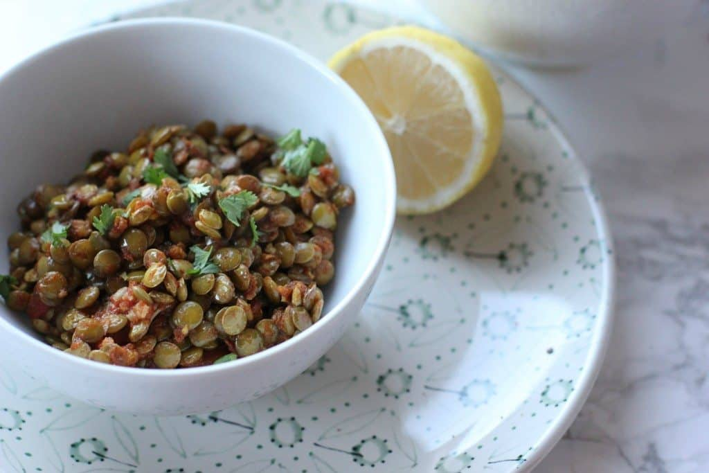This quick and simple spiced lentils are an easy vegan & gluten free dinner!