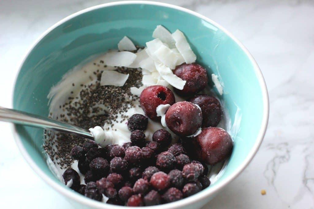yogurt bowl with cherries